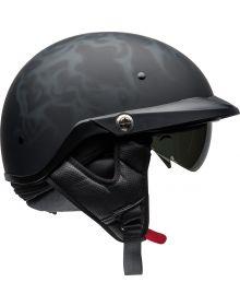 Bell Pitboss Half Helmet Flames Matte Black/Gray