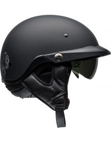 Bell Pitboss Half Helmet Roses Matte Black/Gunmetal
