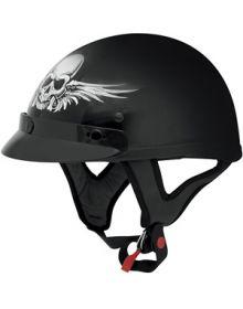 AFX FX-70 Skull 1/2 Helmet Black