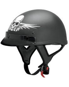 AFX FX-70 Skull 1/2 Helmet Matte Black