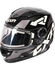 FXR Nitro Youth Core Helmet Black/White/Charcoal