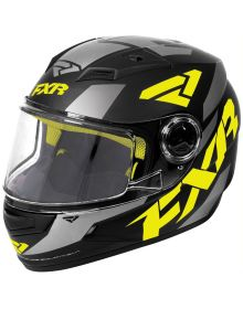FXR Nitro Core Youth Helmet Black/Hi Vis/Charcoal
