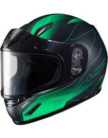 HJC CL-Y Youth Snowmobile Helmet Taze Black/Green