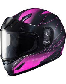 HJC CL-Y Youth Snowmobile Helmet Taze Black/Pink