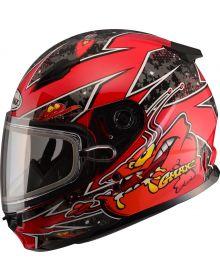Gmax GM49Y Alien Youth Snow Helmet Red