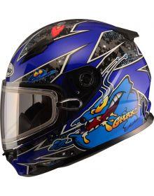 Gmax GM49Y Alien Youth Snow Helmet Blue