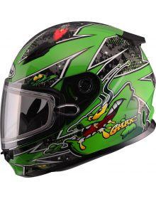 Gmax GM49Y Alien Youth Snow Helmet Green