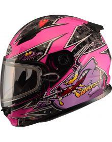 Gmax GM49Y Alien Youth Snow Helmet Pink/Purple
