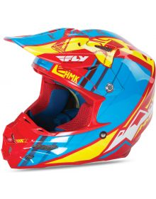 Fly Racing F2 Carbon Snow Helmet HMK Pro Cross Red/Blue/Yellow