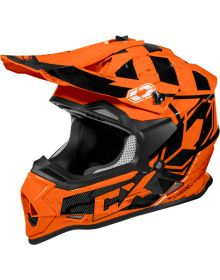 Castle X Mode MX Helmet Stance Flo Orange