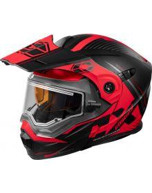 Castle X CX950 Focus Electric Snow Helmet Matte Black/Red