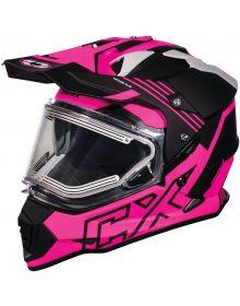 Castle X CX Electric Mode Dual Sport Snow Helmet Agent Pink Glo
