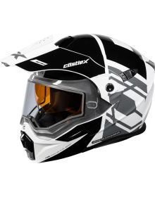 Castle X CX950 Snowmobile Helmet Hex Black/White