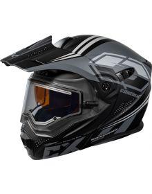 Castle X CX950 Electric Snowmobile Helmet Siege Matte Black/Charcoal