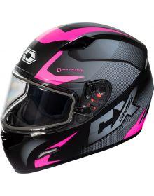 Castle X Mugello Snowmobile Helmet Squad Matte Pink