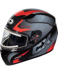 Castle X Mugello Electric Snowmobile Helmet Squad Matte Red