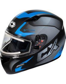 Castle X Mugello Electric Snowmobile Helmet Squad Matte Blue
