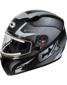 Castle X Mugello Electric Snowmobile Helmet Squad Matte Gray