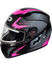 Castle X Mugello Electric Snowmobile Helmet Squad Matte Pink Glo