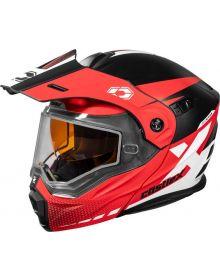 Castle X CX950 Diverge Snowmobile Helmet Matte Red/Black