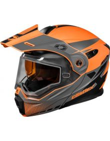 Castle X CX950 Diverge Snowmobile Helmet Matte Flo Orange/Gray