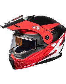 Castle X CX950 Diverge Electric Snowmobile Helmet Matte Red/Black