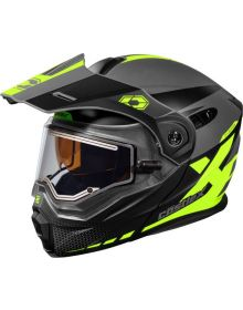 Castle X CX950 Diverge Electric Snowmobile Helmet Matte Hi-Vis/Gray