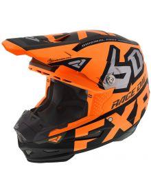 FXR 6D ATR-2 Race Division Helmet Orange/Black/Silver