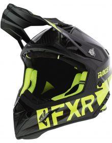 FXR Helium Carbon Race Division Helmet Black/Hi Vis