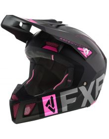 FXR Clutch Evo Helmet Black/Charcoal/Electric Pink