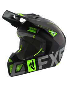 FXR Clutch Evo Helmet Black/Charcoal/Lime