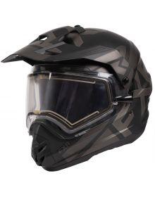 FXR Torque X Evo Helmet w/Electric Shield Black Ops