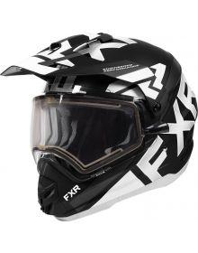 FXR Torque X Evo Helmet w/Electric Shield Black/White