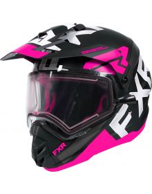 FXR Torque X Evo Helmet w/Electric Shield Black/Fuchsia/Charcoal