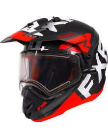 FXR Torque X Evo Helmet w/Electric Shield Black/Red/Charcoal