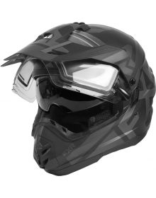 FXR Torque X Evo Helmet w/Electric Shield & Sun Shade Black Ops