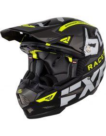 FXR 6D ATR-2 Race Division Helmet Charcoal/Black/Hi-Vis