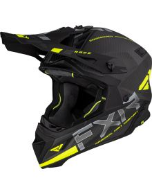 FXR Helium Carbon Helmet Hi-Vis/Charcoal