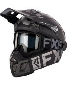 FXR Clutch Cold Stop QRS Helmet W/Combat Goggles Black Ops