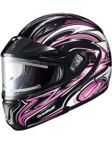 HJC CL-Max2 Modular Electric Snowmobile Helmet Atomic Pink