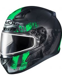 HJC CL-17 Arica Snowmobile Helmet Green MC4SF