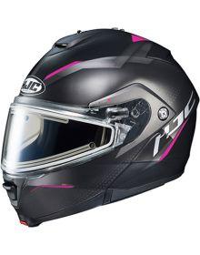 HJC IS-MAX2 Dova Electric Snowmobile Helmet Pink MC8SF
