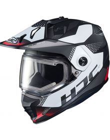 HJC DS-X1 Electric Snowmobile Helmet Tactic Black/Red
