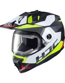 HJC DS-X1 Electric Snowmobile Helmet Tactic White/Black/Green