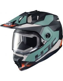 HJC DS-X1 Electric Snowmobile Helmet Tactic Black/Blue/Red