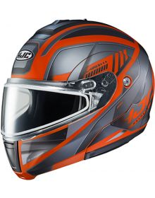 HJC CL-MAX3 Snowmobile Helmet Gallant Black/Orange