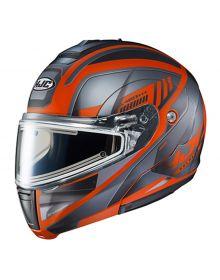 HJC CL-MAX3 Electric Snowmobile Helmet Gallant Black/Orange