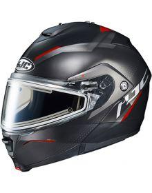 HJC IS-MAX2 Electric Snowmobile Helmet Dova Black/Red