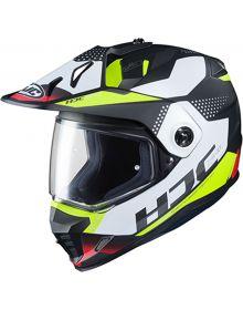 HJC DS-X1 Snowmobile Helmet Tactic Black/White/Hi Vis/Red