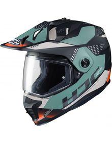 HJC DS-X1 Snowmobile Helmet Tactic Black/Green/White/Orange